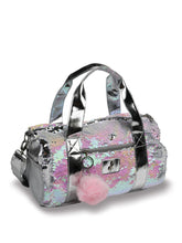 Load image into Gallery viewer, Danshuz Opalescent Sequin Duffle Bag