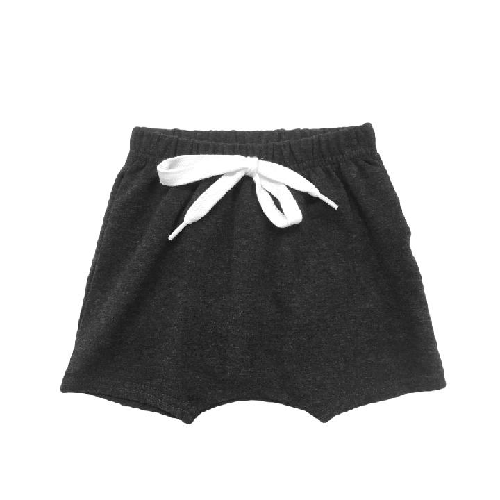 Portage & Main Charcoal Harem Shorts Sizes 0-6M to 8 years Made in Canada