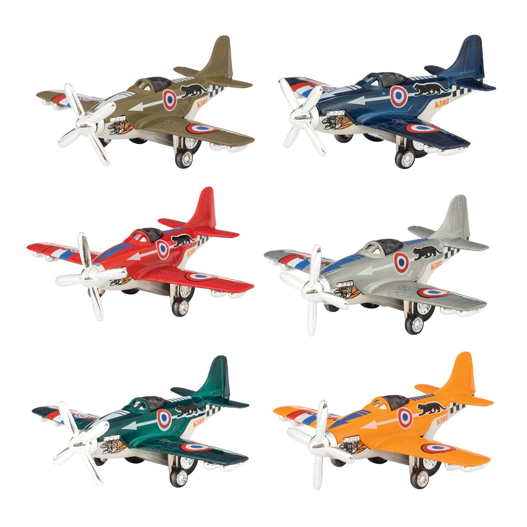 Schylling Pull Back Propeller Plane Toys : Assorted Styles and Colors
