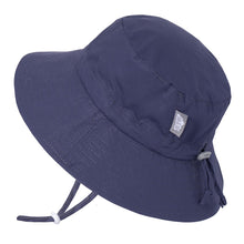 Load image into Gallery viewer, Jan & Jul Gro-with-me Bucket Hats in Navy : Sizes S to XL
