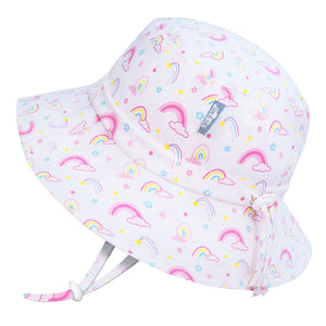 Jan & Jul Gro-with-me Bucket Hat in Rainbow Print : Sizes S to XL