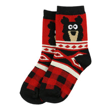 Load image into Gallery viewer, Lazy Ones Bear Cozy Kids Socks : Size 7 - 9
