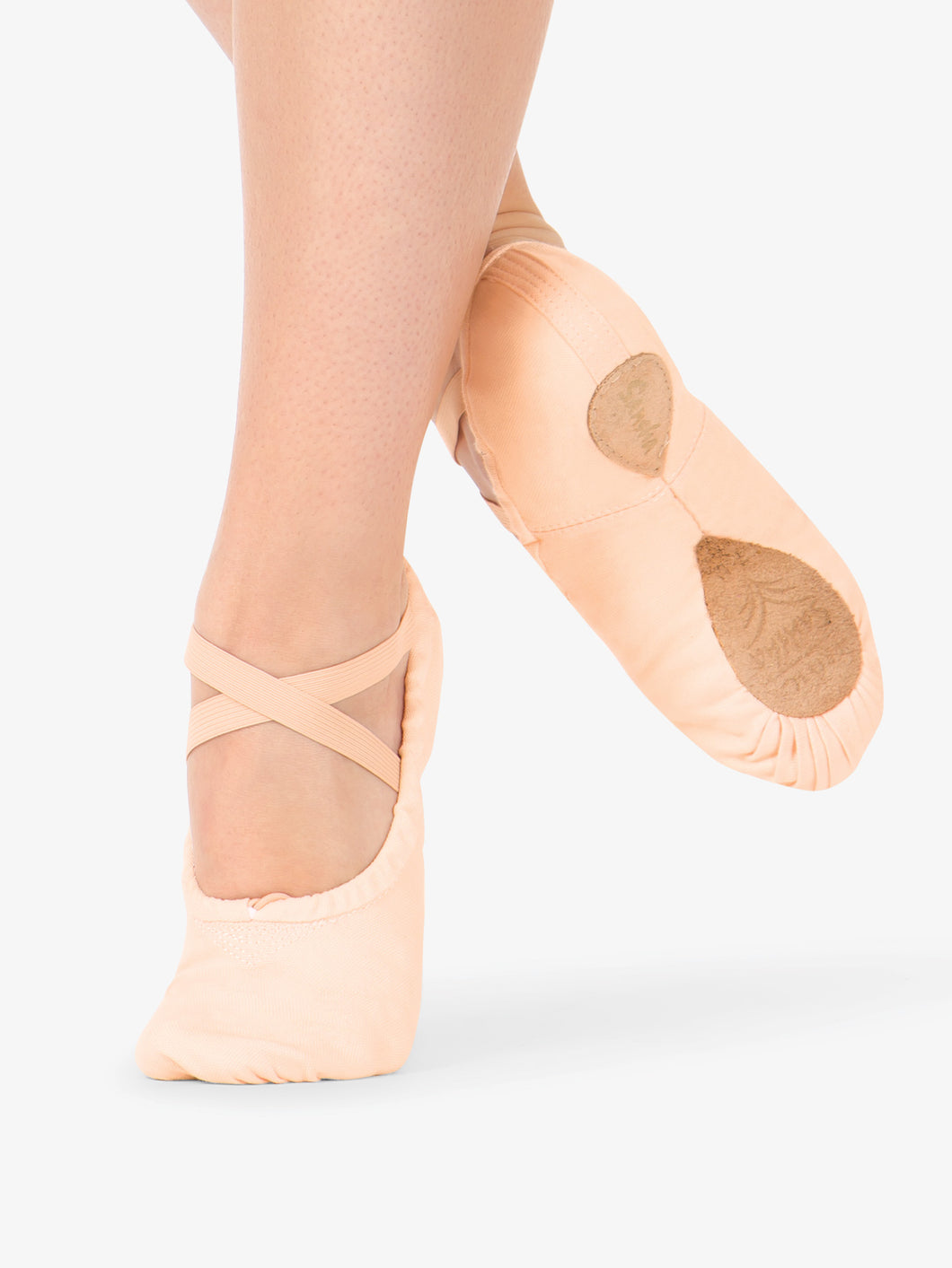 Canvas Stretch Split Sole Ballet Slipper
