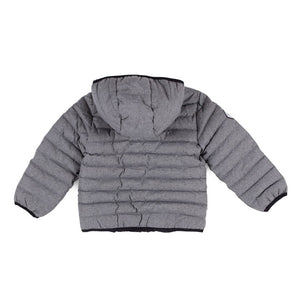 Nano Puffer Jacket in Grey/Black : Sizes 12M to 14