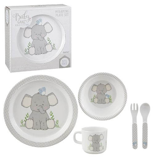 Baby Ganz Melamine Plate Sets: 2 CHOICES