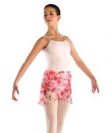Pink Floral Dance Wrap Skirt