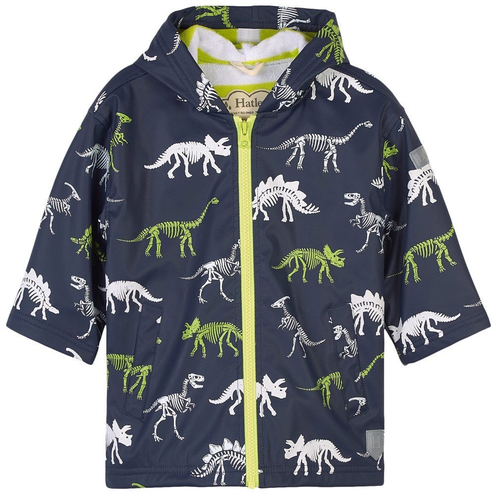 Hatley Dino Fossils Colour Changing Rain Coat: Sizes 2 to 12