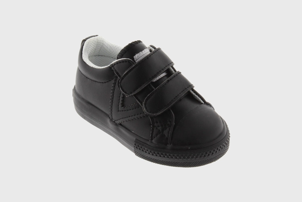 Victoria Black Vegan Leather Baby Boy Slip On Sneakers