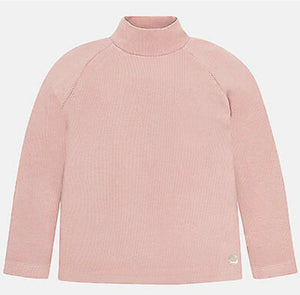 Mayoral Girls Pink High Neck Top : Sizes 2 to 9