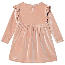 Load image into Gallery viewer, Creamie Velvet Rose Smoke Dress: sizes 1year to 6years
