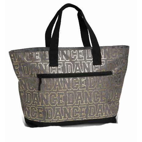 Danshuz Grey and Gold Large Dance Bag.