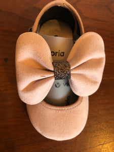 Victoria Baby/Toddler Nubuck MaryJane Shoes