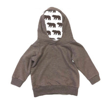 Load image into Gallery viewer, Portage and Main Brown/Bear Cotton Hoodie : Sizes 1m to Youth Small