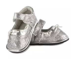 Jack & Lily Silver Mary-Janes in sizes 0M to 36M