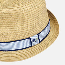 Load image into Gallery viewer, Mayoral Straw Fedora Hat : Sizes 8 to 14 (hat sizes 51 to 58)