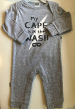 Load image into Gallery viewer, Kushies My Cape is in the Wash Cotton Romper