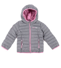 Load image into Gallery viewer, Nano Puffy Jacket - Grey/Pink Available from Size 12M to 14 years