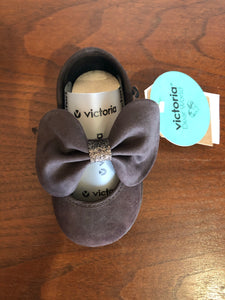 Victoria Baby/Toddler Nubuck Mary Jane Shoes