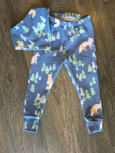 Coast Kids Foxes Locally Made Leggings available in size 3 months to 4 years