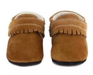 Jack & Lily Brown Suede Leather Mocs