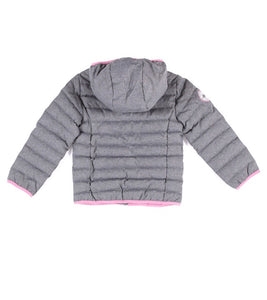 Nano Puffy Jacket - Grey/Pink Available from Size 12M to 14 years