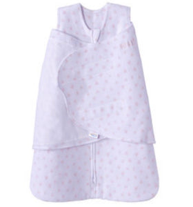 Halo Newborn Baby Girl Pink Hearts Fleece Swaddle Sleepsack