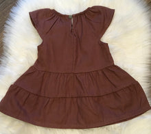 Load image into Gallery viewer, Enfant Mocha Tiered Twirl Dress: 3M - 18M