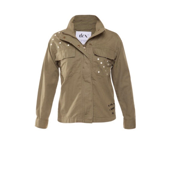 Dex Dark Sage Spring Jacket in sizes 8 - 14