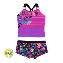 Load image into Gallery viewer, Nano Girls Tankini with boy short bottoms :Sizes 2 to