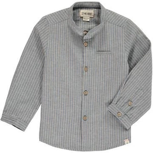 Me & Henry Blue/Beige Round Neck Shirt :Sizes 2 to 16