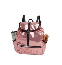 Load image into Gallery viewer, Danshuz Pink Metallic Dance Backpack