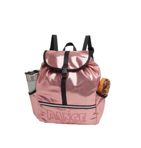 Danshuz Pink Metallic Dance Backpack