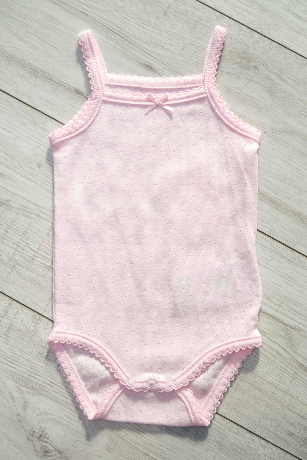 Mayoral Spaghetti Strap Pointelle Onesie :  2 COLOUR Choices