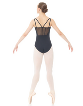Load image into Gallery viewer, Mondor Multi Strap with Ruching Leotard in Black : Size S to LG (style #3635)