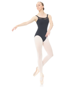 Mondor Multi Strap with Ruching Leotard in Black : Size S to LG (style #3635)