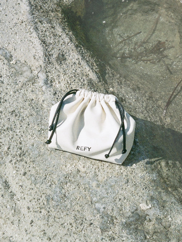 REFY pouch on rocks