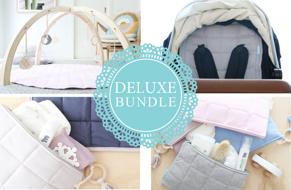 Deluxe Bundle (Play Bar, Play Space, Little Space, Nappy Clutch & Pram Liner)