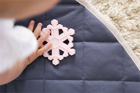 Snowflake Silicon Teether (available in different colours)