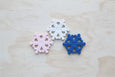 Snowflake Silicone Teether Royal Blue (Display Stock)