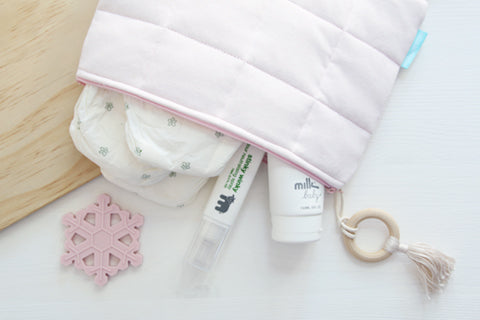 Pink Salt Nappy Clutch with Attachment