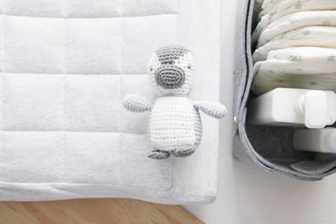 Blanco Crochet Rattle