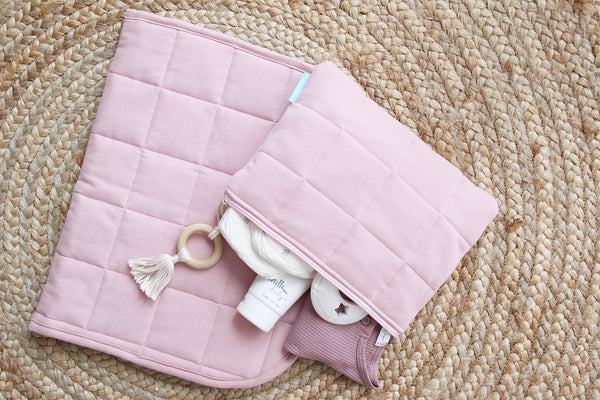 Blush Baby Changing Set