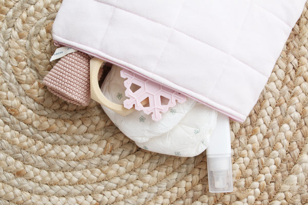 Light Pink Nappy Clutch