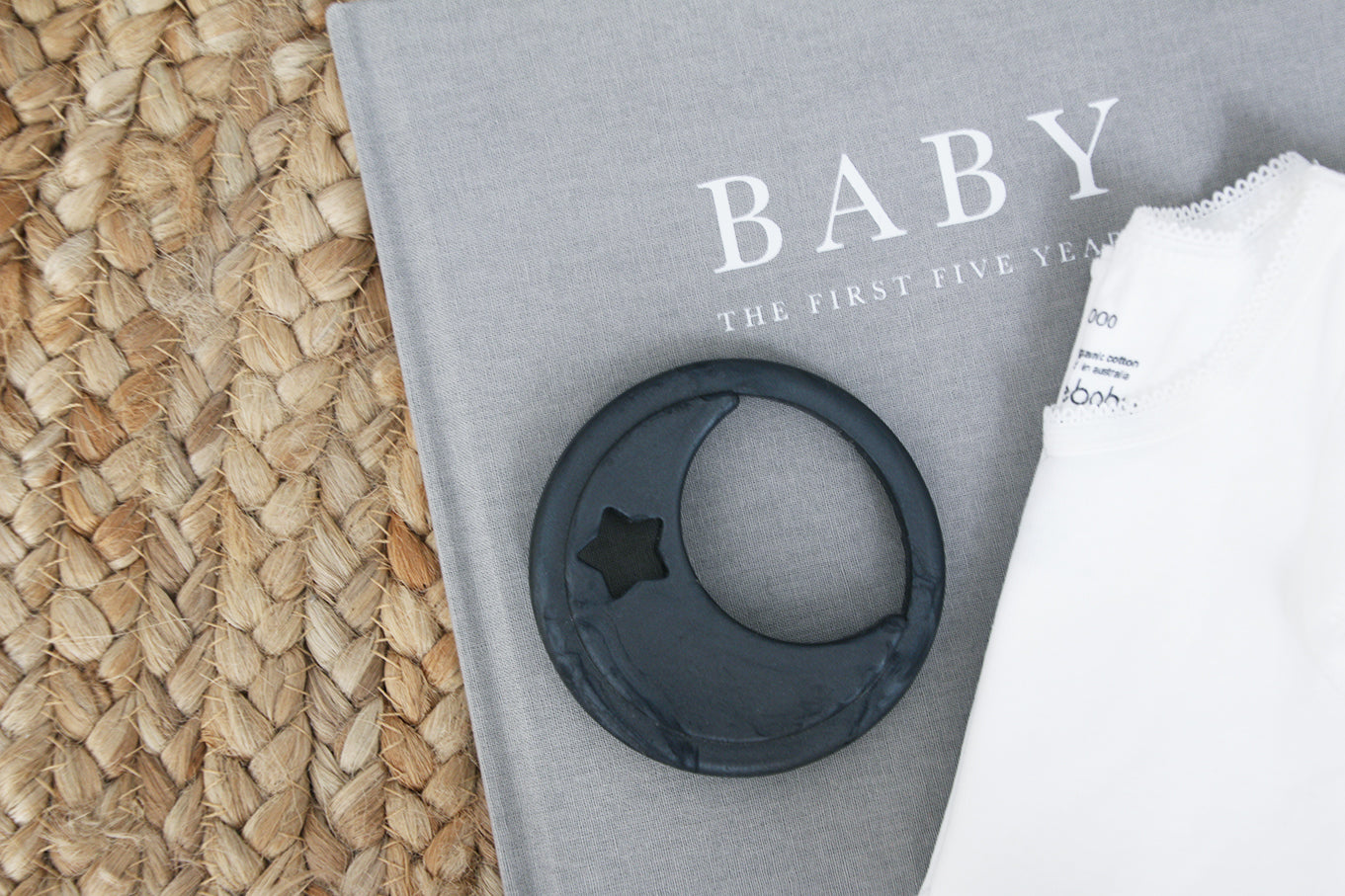 Luna Silicone Teether Black Marble (Display Stock)