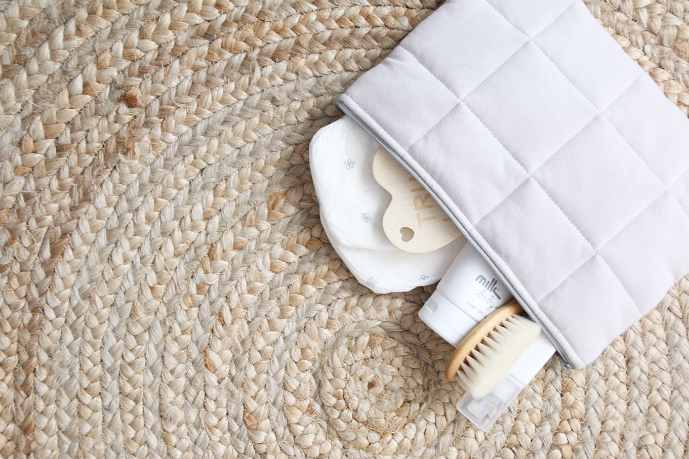 Natural Nappy Clutch - Low Stock