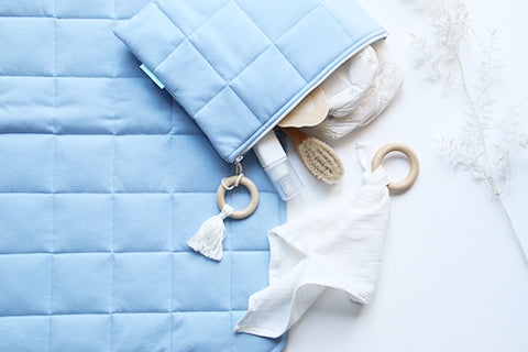 Light Blue Baby Changing Set