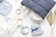 Natural/Navy Baby Changing Set