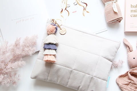 Natural Luxe Nappy Clutch
