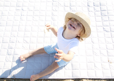 Natural/Navy Rectangle Play Mat