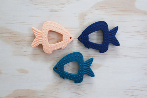 Finley Fish Silicon Teether (Available in different colours)
